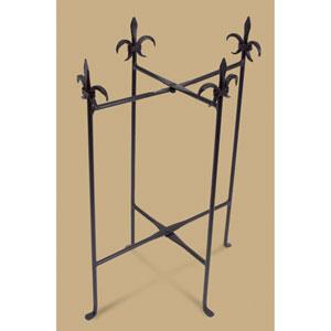 Kindwer Black Fleur de Lis Iron Stand for Oval Tubs