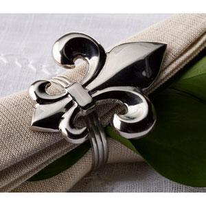 Kindwer Silver Fleur de Lis Napkin Ring