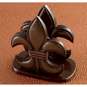 Kindwer Bronze Fleur de Lis Napkin Holder