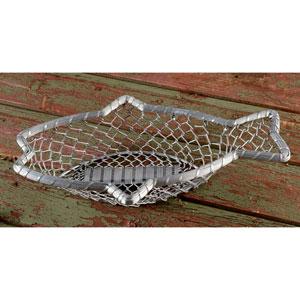 16-Inch Chain-Link Metal Fish Basket