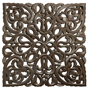 Solaris Brown 12-Inch Eight Wooden Wall Panel