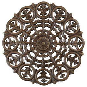 24-Inch Light Brown Solaris Five Wooden Wall Panel