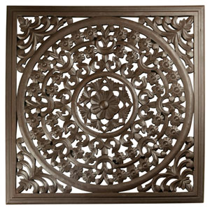 Solaris Brown 24-Inch Seven Wooden Wall Panel