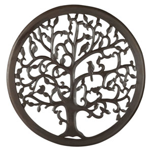 24 In. Dark Brown Solaris Ten Tree of Life Wall Art