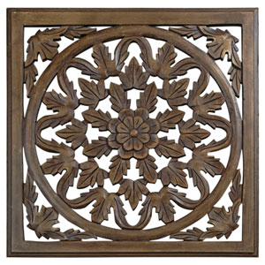30-Inch Brown Solaris Six Wooden Wall Panel