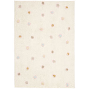 Carousel White Dots Rectangular: 4 Ft. x 6 Ft. Rug
