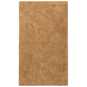 Plush Pile Tan 21-Inch x 34-Inch Bath Rug