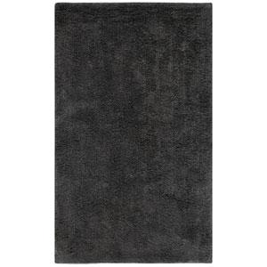 Plush Pile Charcoal 21-Inch x 34-Inch Bath Rug