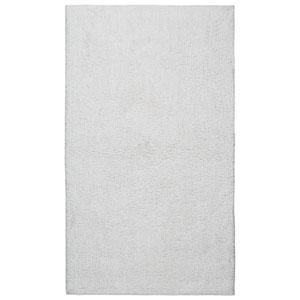 Plush Pile White 21-Inch x 34-Inch Bath Rug