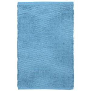Plush Nubby Light Blue 21-Inch x 34-Inch Bath Rug