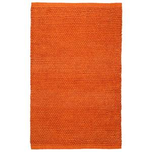 Plush Nubby Orange 21-Inch x 34-Inch Bath Rug