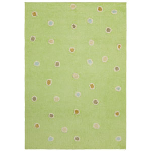 Carousel Green Dots Rectangular: 2 Ft. 6 In. x 4 Ft. 2 In. Rug