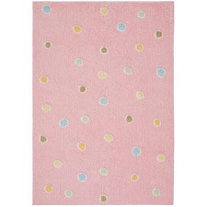 Carousel Pink Dots Rectangular: 4 Ft. x 6 Ft. Rug