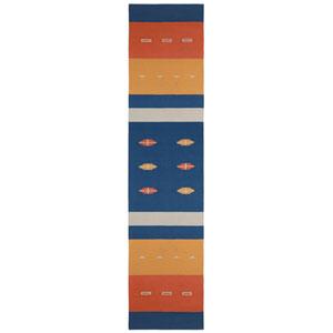 Sedona Azul Blue Runner: 2 Ft 6 In x 12 Ft Rug