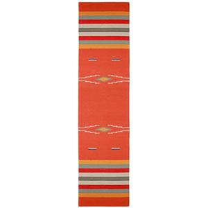 Sedona Orange Naranja Runner: 2 Ft 6 In x 12 Ft Rug