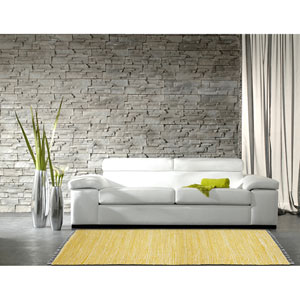 Complex Yellow Chenille 4 Ft. x 6 Ft. Rug