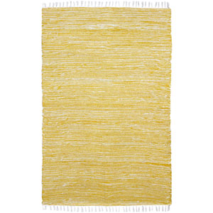 Complex Yellow Rectangular: 3 Ft x 5 Ft Rug