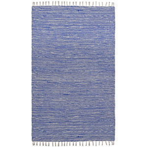 Complex Blue Rectangular: 3 Ft x 5 Ft Rug