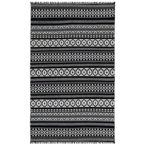 Complex Black Geo Rectangular: 3 Ft x 5 Ft Rug