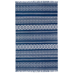 Complex Blue Geo Rectangular: 3 Ft x 5 Ft Rug