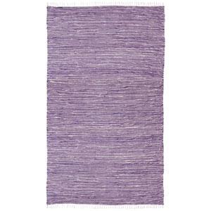 Complex Purple Chenille Flat Weave Rectangular: 5 Ft. x 8 Ft. Rug