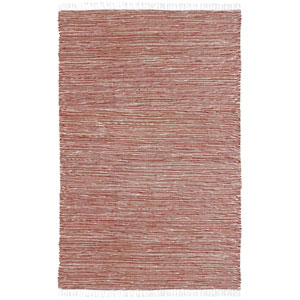 Complex Copper Chenille Flat Weave Rectangular: 5 Ft. x 8 Ft. Rug