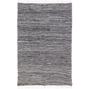 Complex Black Chenille Rectangular: 5 Ft. x 8 Ft. Rug