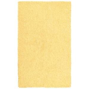 Shagadelic Chenille Shag Yellow Rectangular: 2 Ft. 6 In. x 4 Ft. 2 In. Rug
