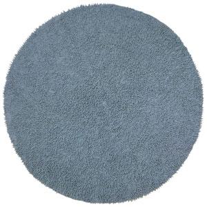 Shagadelic Chenille Shag Gray Round: 3 Ft. x 3 Ft. Rug