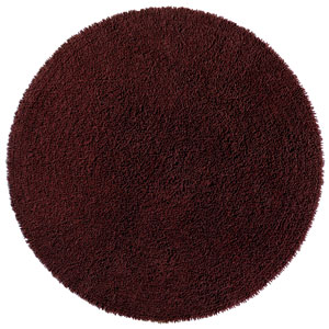 Shagadelic Chenille Shag Brown Round: 5 Ft. x 5 Ft. Rug
