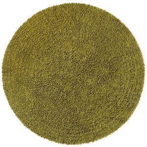 Shagadelic Chenille Shag Moss Round: 5 Ft. x 5 Ft. Rug