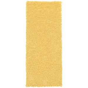 Yellow Shagadelic Chenille Twist 2 Ft. x 5 Ft. Runner
