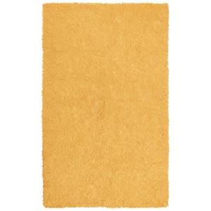 Yellow Soft Chenille Shag Rectangular: 4 Ft. x 6 Ft. Rug