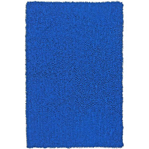 Shagadelic Neon Blue Chenille Twist Rectangular: 4 Ft. x 6 Ft. Rug