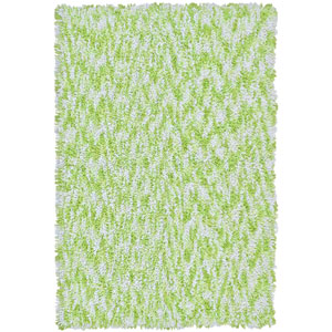 Shagadelic Green Chenille Swirl Twist Rectangular: 4 Ft. x 6 Ft. Rug