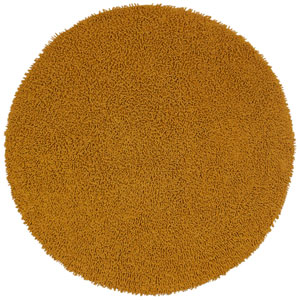 Shagadelic Gold Twist Round: 5 Ft Rug