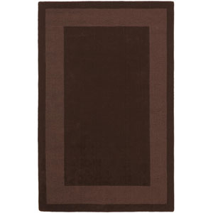 Transitions Chocolate Border Rectangular: 5 Ft. x 8 Ft. Rug