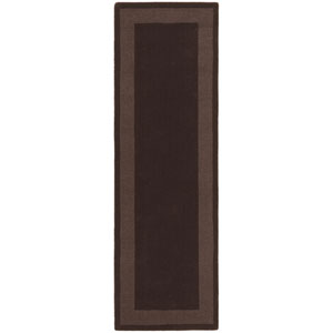 Transitions Chocolate Border Rectangular: 2 Ft. 5 In. x 8 Ft. Runner