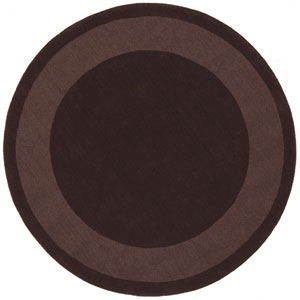 Transitions Chocolate Border Round: 6 Ft. x 6 Ft. Rug