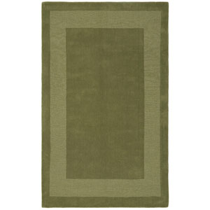 Transitions Moss Green Border Rectangular: 5 Ft. x 8 Ft. Rug