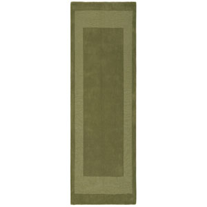 Transitions Moss Green Border Rectangular: 2 Ft. 5 In. x 8 Ft. Runner