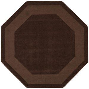 Transitions Chocolate Cut and Loop Waves Octagon: 6 Ft. x 6 Ft. Rug