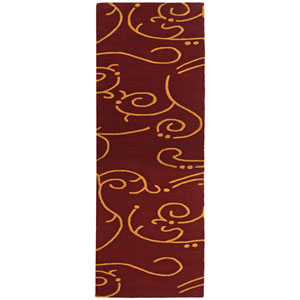 Structure Burgundy Archer Hand Tufted Runner: 2 Ft. 6 In. x 12 Ft. Rug