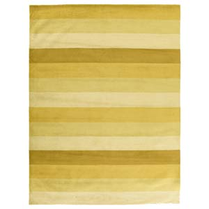 Yellow Stripes  Yellow Rectangular: 5 Ft. x 8 Ft.  Rug