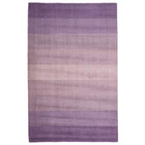 Purple Stripes Purple Rectangular: 5 Ft. x 8 Ft.  Rug