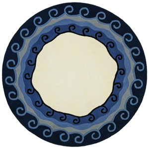 Structure Blue Malibu Hand Tufted Round: 6 Ft. x 6 Ft. Rug