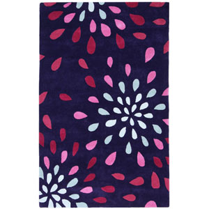 Structure Purple Rain Rectangular: 5 Ft. x 8 Ft. Rug