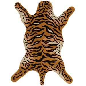 Safari Tiger Rectangular: 5 Ft. x 8 Ft. Rug