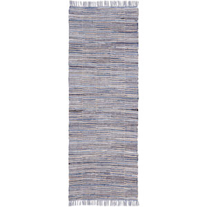 Blue Jeans and Hemp Checkered 2.5 Ft. x 8 Ft. Rug Runner