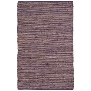 Purple Jeans and Hemp Rectangular: 5 Ft. x 8 Ft. Rug